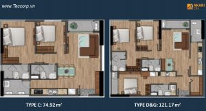 can ho akari city 75 - 121 m2