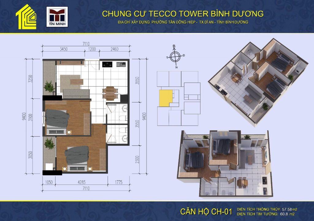 mat bang can ho CH01 Tecco Tower Binh Duong