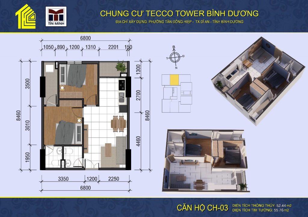 mat bang can ho CH03 Tecco Tower Binh Duong