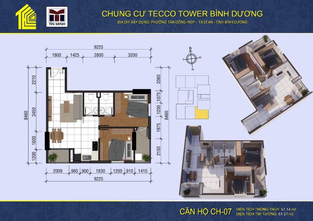 mat bang can ho CH07 Tecco Tower Binh Duong