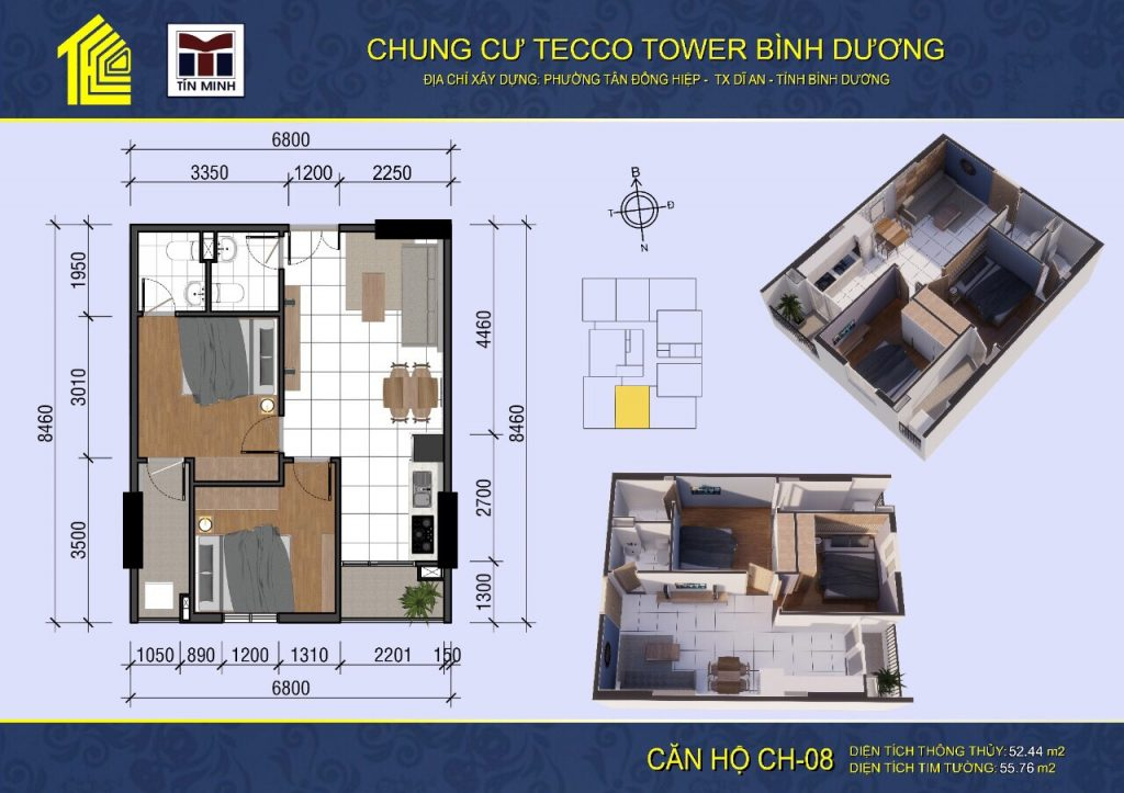 mat bang can ho CH08 Tecco Tower Binh Duong