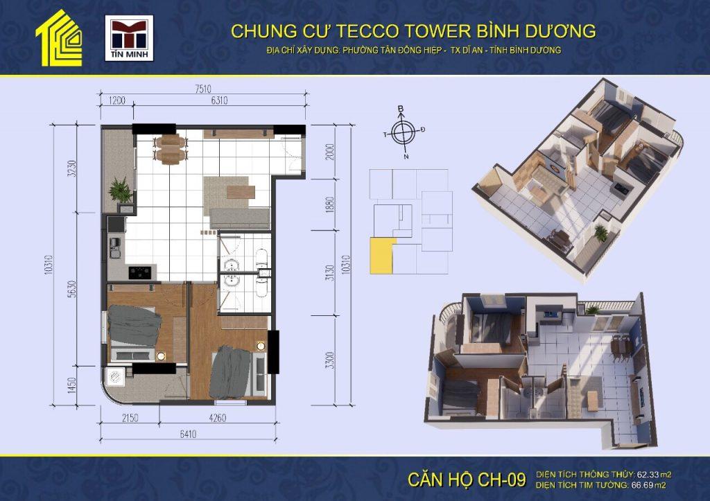 mat bang can ho CH09 Tecco Tower Binh Duong